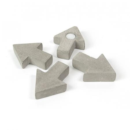 Magnet  - sageata ciment - CONCRETE ARROW (4 buc/set)
